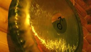 Tiefe mit dem Gong